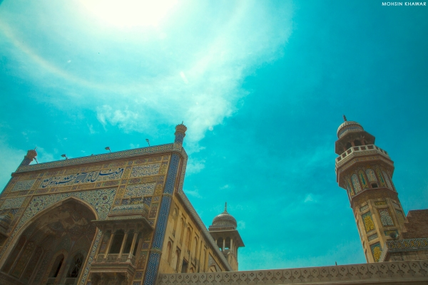 Mosque Wazir Khan - Lahore, Pakistan.  Buy high res image at https://www.shutterstock.com/image-photo/mosque-wazir-khan-lahore-pakistan-1402991282 or at https://www.istockphoto.com/photo/mosque-wazir-khan-gm1150583527-311521564
